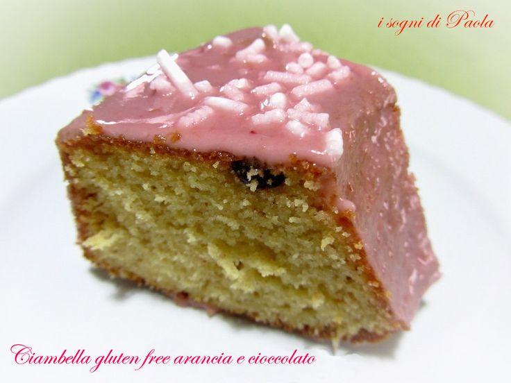 Ciambella gluten free con arancia e cioccolato. Con farina di riso