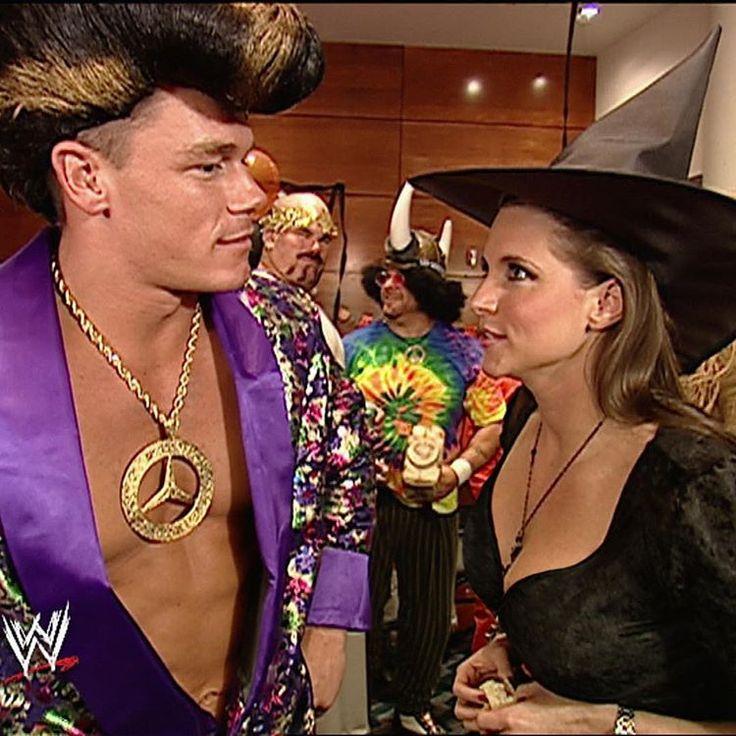 Stephanie McMahon & John Cena on Halloween - WWE Smackdown 2002
