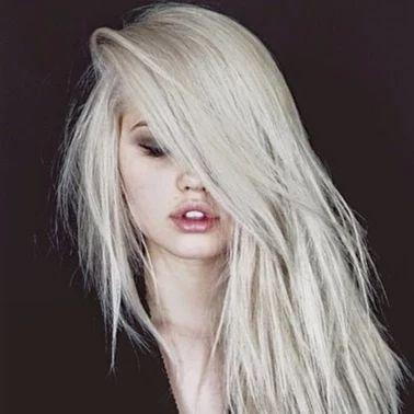 Platinum Blonde/Pale Skin/Black Aesthetic