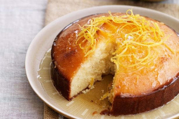 This irresistibly moist yoghurt cake is given the final touch with a luscious sticky syrup made from citrus and spice.