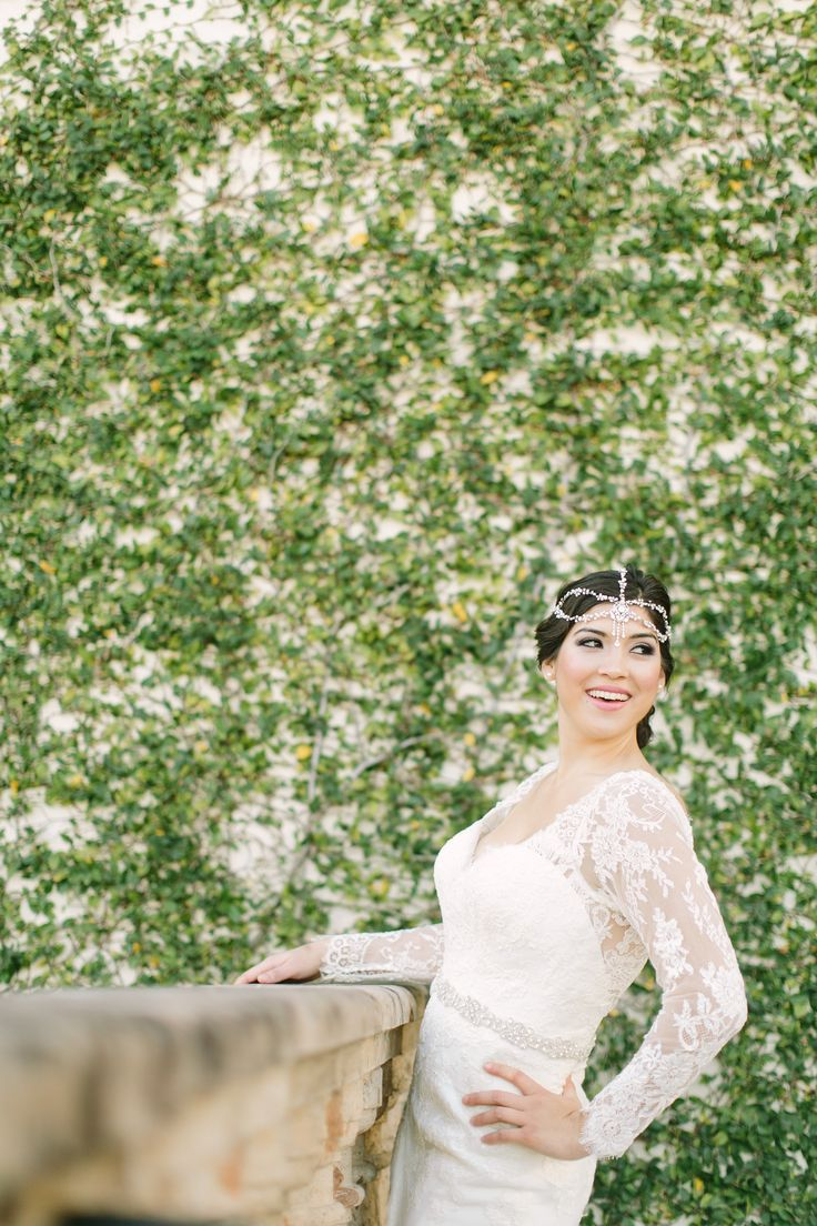 Essense Of Australia Lace Sleeve Wedding Gown At Whittington Bridal Photoshoot By Mustard Seed Photography In Houston Texas