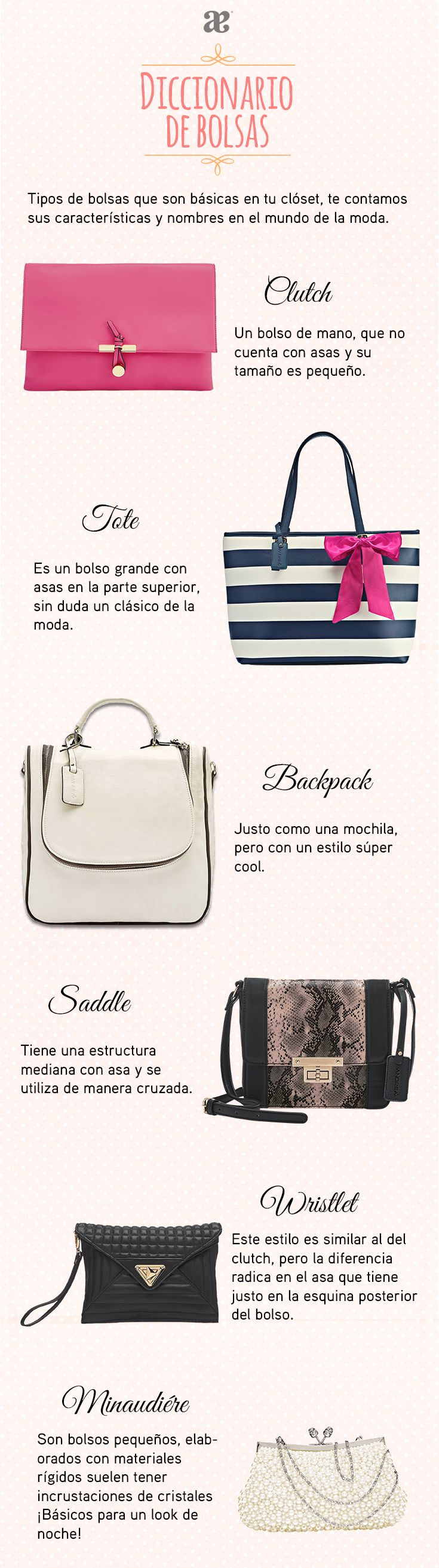 ¿Ya descubriste el nombre de tu #bolsa favorita? #Moda #Fashion #OOTD #Bags