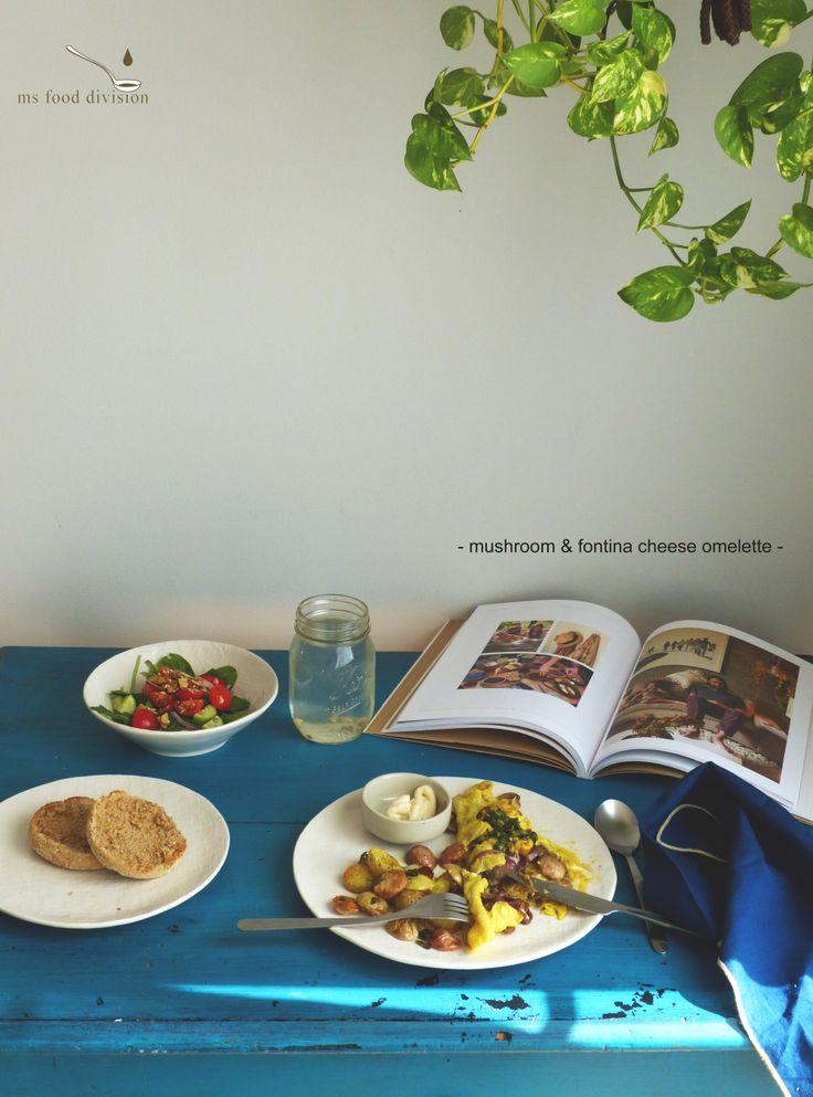 mushroom & fontina omelette | Eggspiration | Pinterest