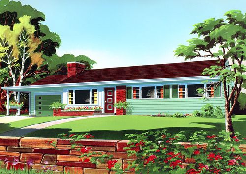 Suburban Home 50s Street View Pinterest Posts Home