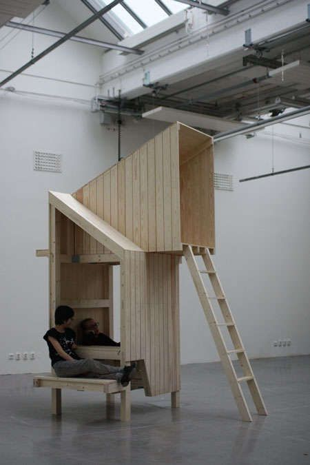 Multi-Functional Treehouses: Wooden Structure Dances Between Furniture and Architecture