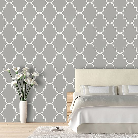 Classic Trellis: Luxury removeable wallpaper by Swag Paper