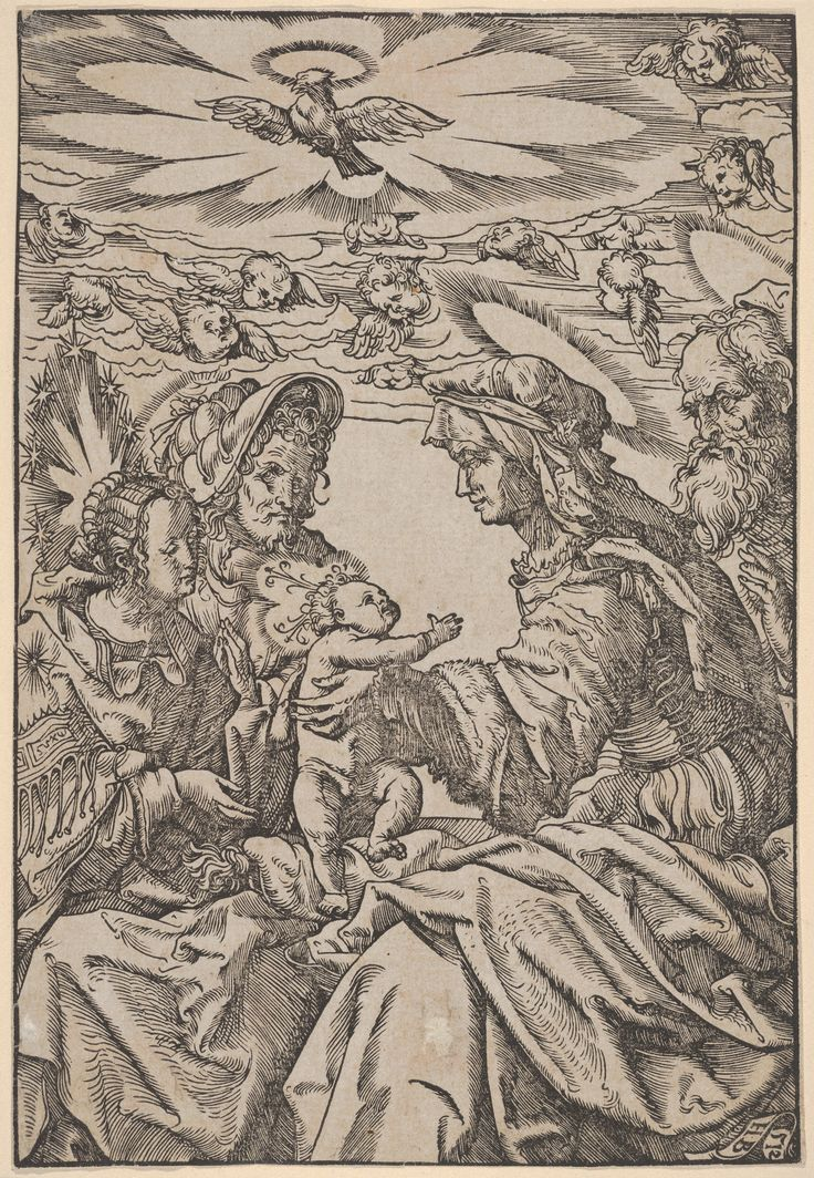 The Holy Family with Saint Anne and Saint Joachim  Published 1512