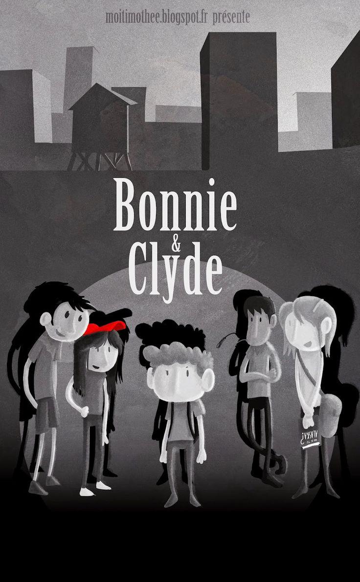 Timothée a revu ses copains hier. Ambiance 'bande organisée'.... Aie ! #Bonnie and Clyde, gangster