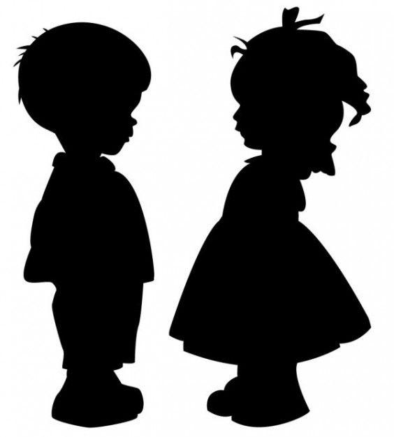 Boy Girl Silhouette Clip Art Jpg Boy Girl Silhouette Clip Art (25.35 Kb) 564x626