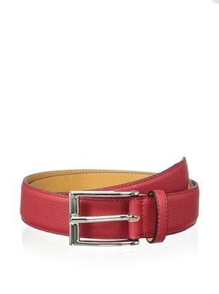 81% OFF Leone Braconi Men's Toro Morbido Belt (Red)