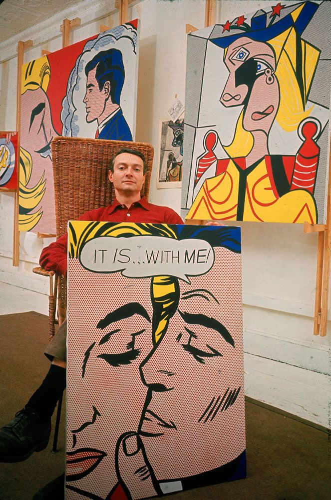 ( Yeah, SO sorry I disnt buy any. I did love it. Oh, yeah. I was in high school....no money.  Duh. - p.mc.n. ) Roy Lichtenstein, 1963, photo by John Loengard