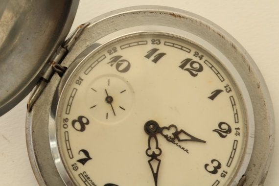 Soviet watch. MOLNIYA.Vintage watch. Mechanical watch. Pocket Watch. Collectible.