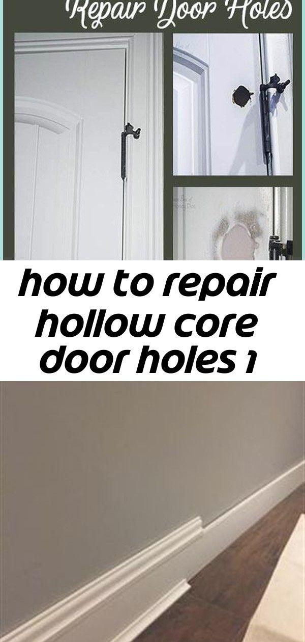 How To Repair Hollow Core Door Holes Easy Diy Home Improvement
