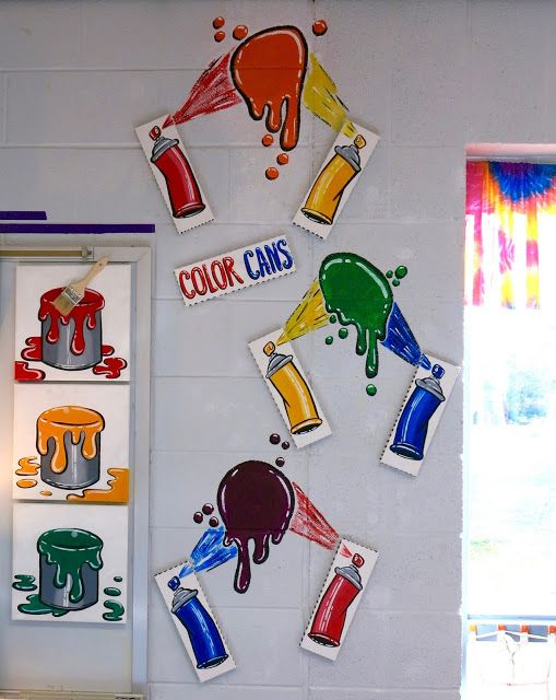In the Art Room: Spray Paint Wall Display!