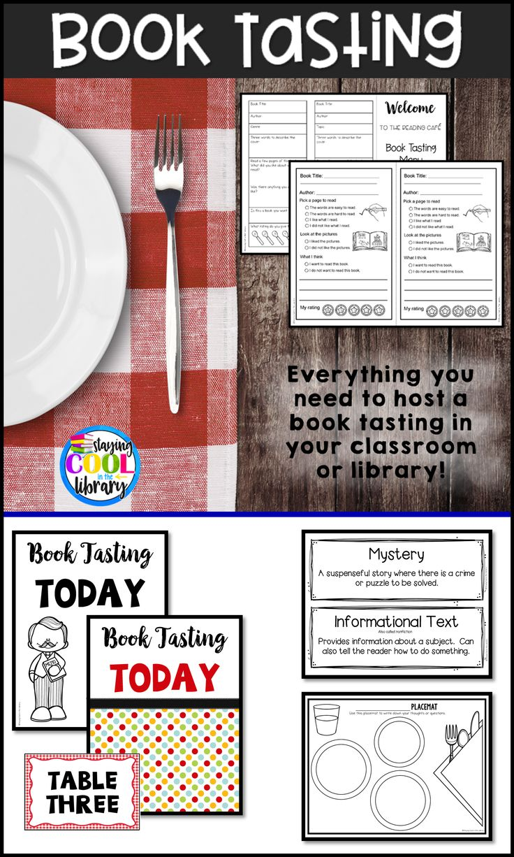 Everything you need to host a book tasting. Expose students to different genres and get them engaged and excited about reading.
