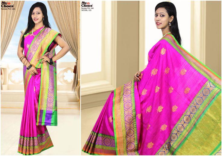Beautiful Bailu Pink Combination Saree