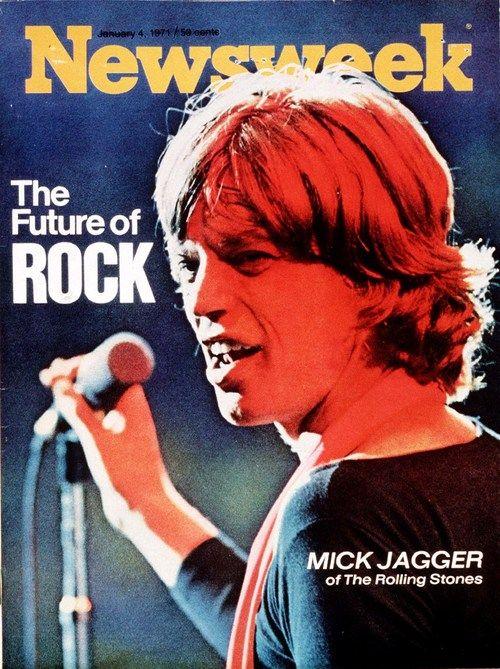 1971 JANUARY 4 NEWSWEEK MAGAZINE MICK JAGGER ROLLING STONES THE FUTURE OF ROCK