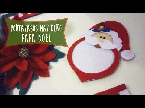 Papa Noel Portavasos Navideño: Ideas para decorar tu mesa en esta navidad - YouTube
