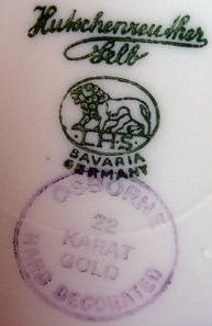Osborne Art Studio stamp. Also stamped with a Hutschenreuther Selb mark for the Bavarian porcelain manufacturer. by Richard Arthur Norton  (...
