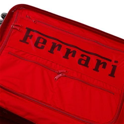 Medium travel trolley from the Ferrari California line #ferrari #ferraristore #RedDetails #medium #trolley #FerrariCalifornia #weekend #polycarbonate #cuttingedge #design #rossoferrari #redmaranello