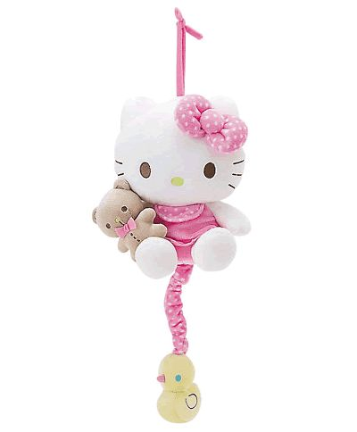 hello kitty baby bear pull down musical plush