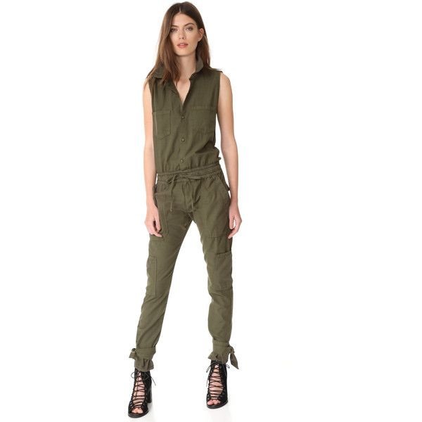 NSF Yuki Jumpsuit ($429) ❤ liked on Polyvore featuring jumpsuits, cotton jumpsuit, white cotton jumpsuit, jump suit, nsf and white jumpsuit