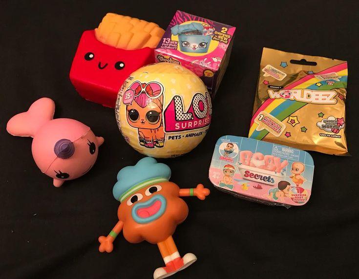 Someones had a good day!  #squishies #lolsurprise #gumball #shopkins #worldeez #babysecrets #mcdonalds #toys #haul