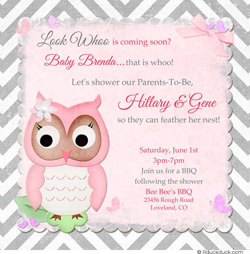 Owl Baby Shower Invitation Wording Ideas