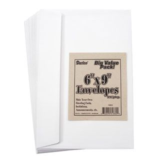 Darice® 6 x 9 Envelopes: White, 25 Pack