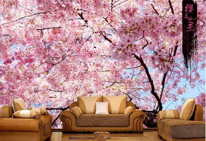 1000 ideas about cheap wallpaper on pinterest 3d for Cherry blossom wallpaper mural