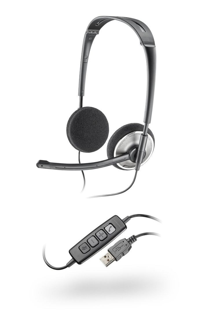 Amazon.com: Plantronics PLNAUDIO478 Stereo USB Headset fOR PC: Cell Phones & Accessories