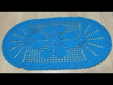 Tuto chemin de table, tapis ovale - YouTube