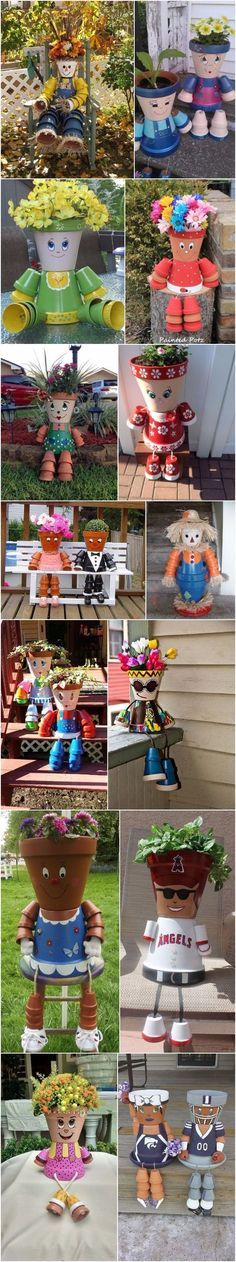 Amazing DIY Clay Pot People : Learn How To Make Them   DIY Fun Tips