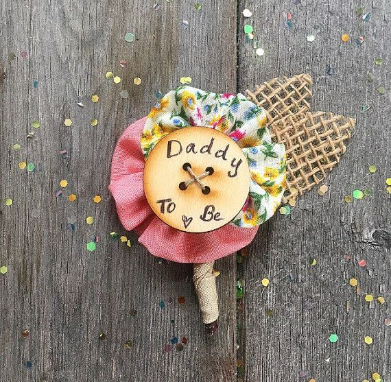 Rustic Burlap Daddy to Be Pin // Father to Be Pin in by dustyLuck