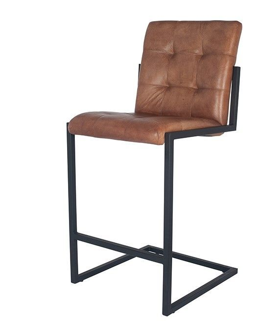 Industrial Bar Stools With Matching Dining Chairs Upholstered Tan Leather Bar Stools Mp15 262vb Bar Chairs Kitchen Stools Millmax Interiors Uk Furniture Sale Contemporary Bar Stools Bar Stools Iron Bar