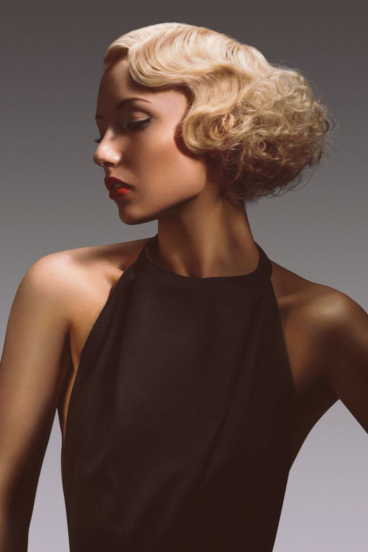 Beautiful, finger waves, textured blonde