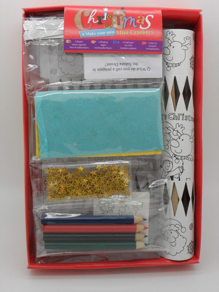 Make your own Christmas Mini Crackers! Craft for Children! Party! Gift!