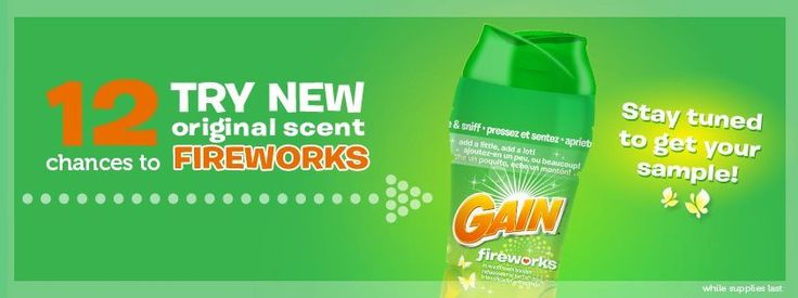 Free Sample of Gain Fireworks Scent Booster *Coming Soon!