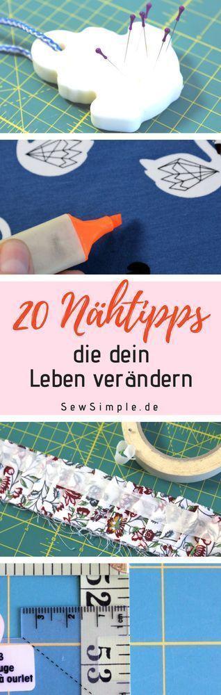 ᐅ 20 geniale Näh-Tipps, die dein Leben verändern