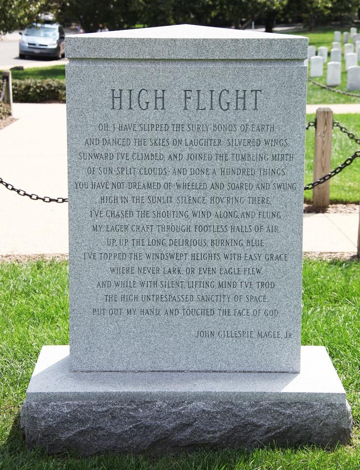 """High Flight""   Space Shuttle Challenger Memorial ~ Arlington National Cemetery"