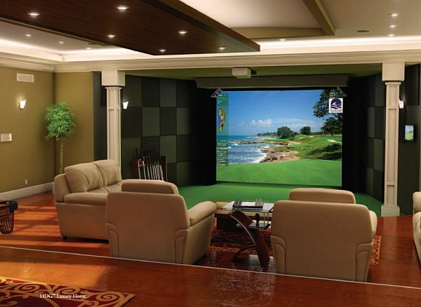 High definition golf simulator also becomes your home for Room decor simulator