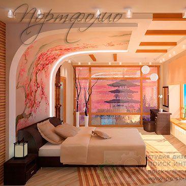 Спальня. Дизайн интерьера спальни фотографии с комментариями. Спальни в этническом стиле.