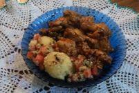 Receita de Coxa de frango cozida ao molho de vinagrete