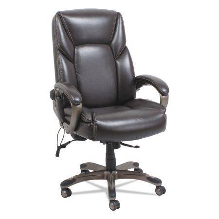 Alera Shiatsu Massage Chair, Chocolate Marble, Bronze Base, Brown