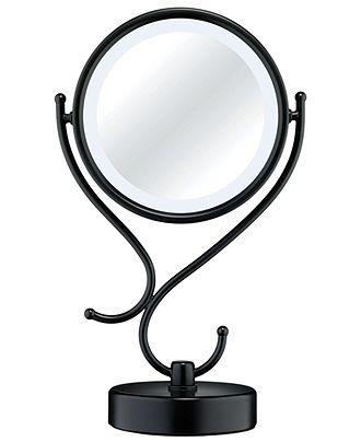 The 25 best conair lighted mirror ideas on pinterest lighted conair lighted makeup mirror black matte macys mozeypictures Gallery