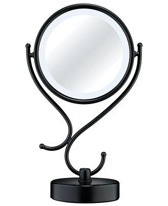 Conair Lighted Makeup Mirror, Black Matte - - Macy's