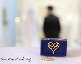 Cadeau danniversaire boîte de bague de mariage porteur de