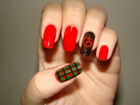 Unhas Punk rock, nail art punk, anarquia