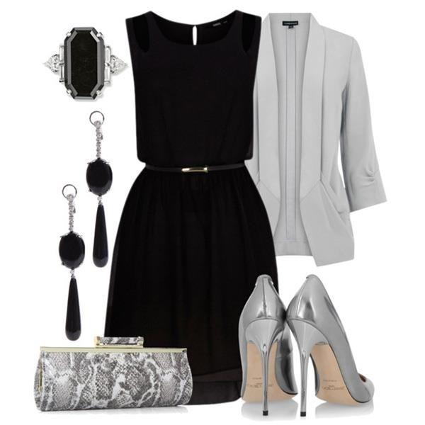 Можно ли сочетать черное платье с золотыми туфлями
