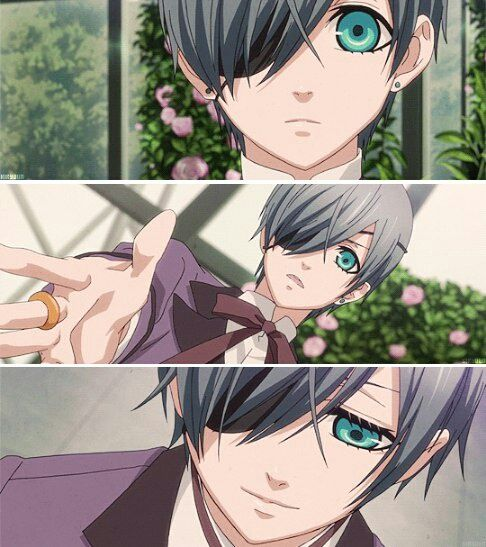 Woah, that is totally the wrong color blue for Ciel's eyes! <<< it is. It just looks weird.